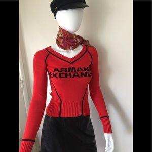 Armani Exchange Cotton vneck sweater
